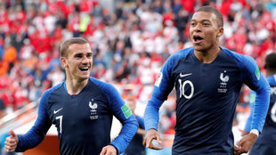 Mbappe in action for France /