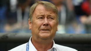 Age Hareide, durante un encuentro de Dinamarca en el Mundial