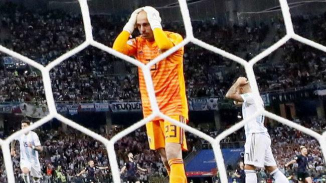 Caballero en el partido ante Croacia.