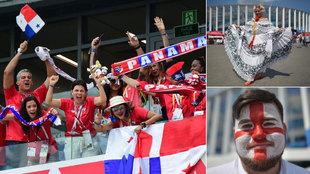 Los hinchas centroamericanos ponen el calor a la previa del partido.