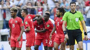 Así celebraron los panameños el histórico gol.