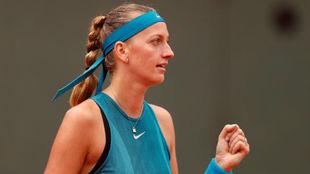 Petra Kvitova, durante el pasado Roland Garros.