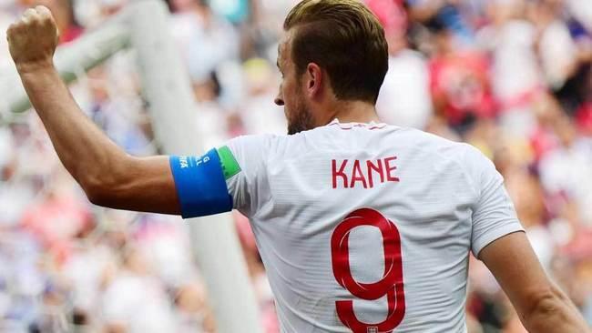 Kane celebra uno de los goles que ha marcado en el Mundial.