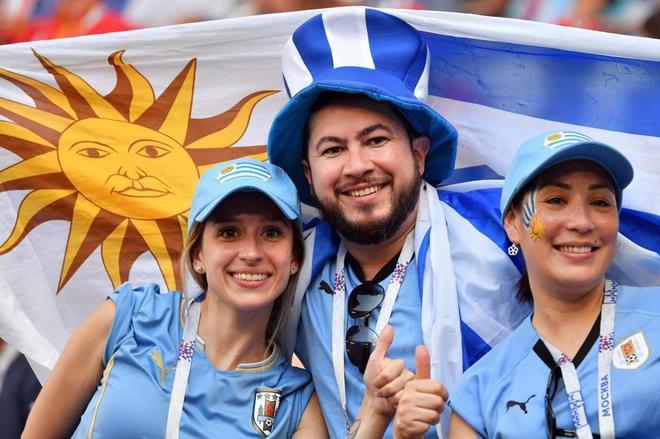 Muchos uruguayos también en la grada