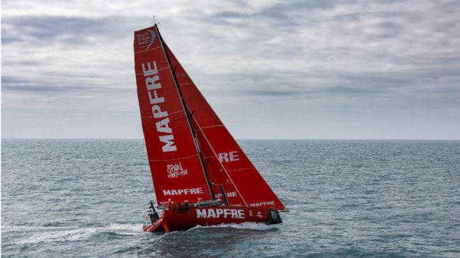 El MAPFRE, durante la Volvo Ocean Race