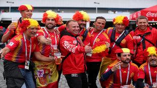Gran ambiente en el Estadio de Kaliningrado para el España vs...