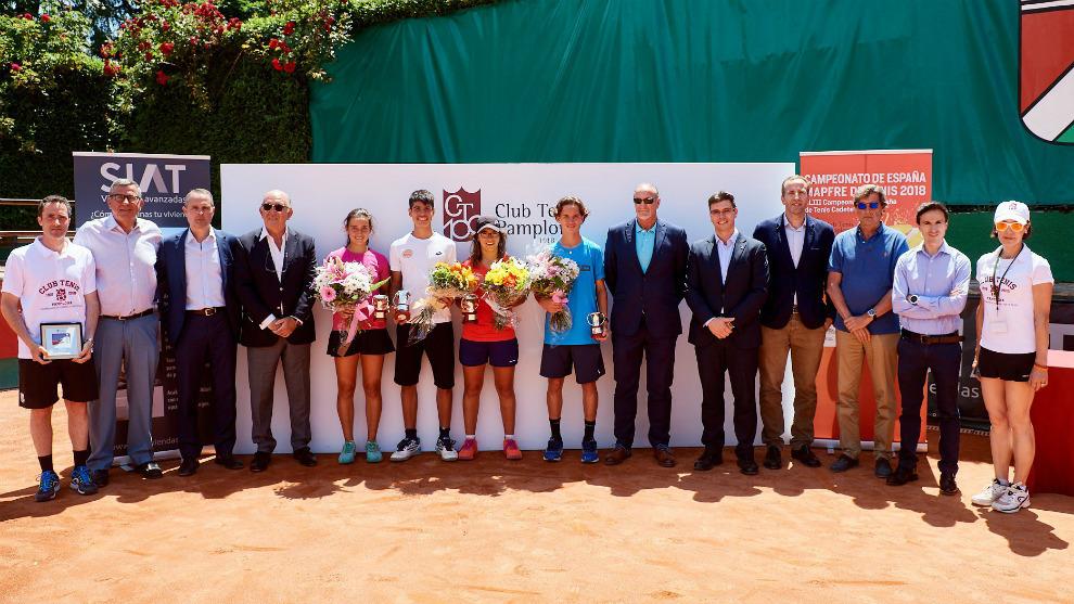 Campeones y finalistas del Campeonato de España cadete en el C.T...