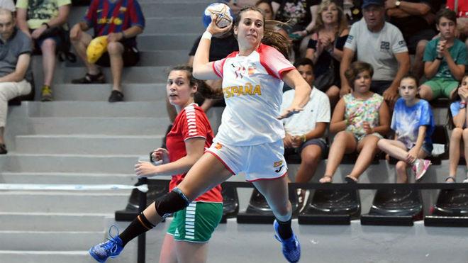 Jennifer Gutiérrez lanza ante Portugal /