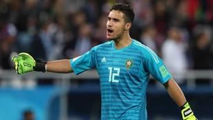 Munir El Kajoui, portero de Marruecos en el Mundial