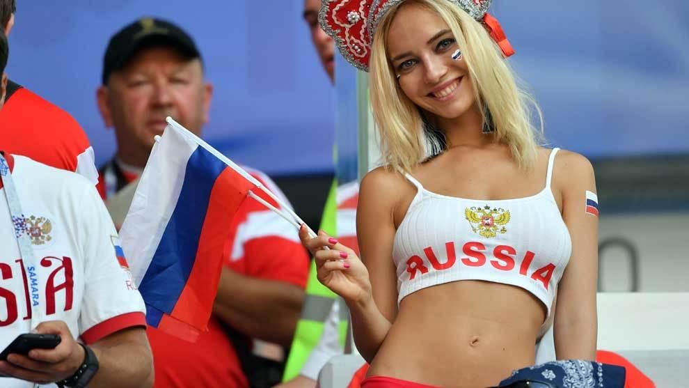 Natalya Nemchinova, la famosa aficionada de Rusia en el Mundial. Se ha...