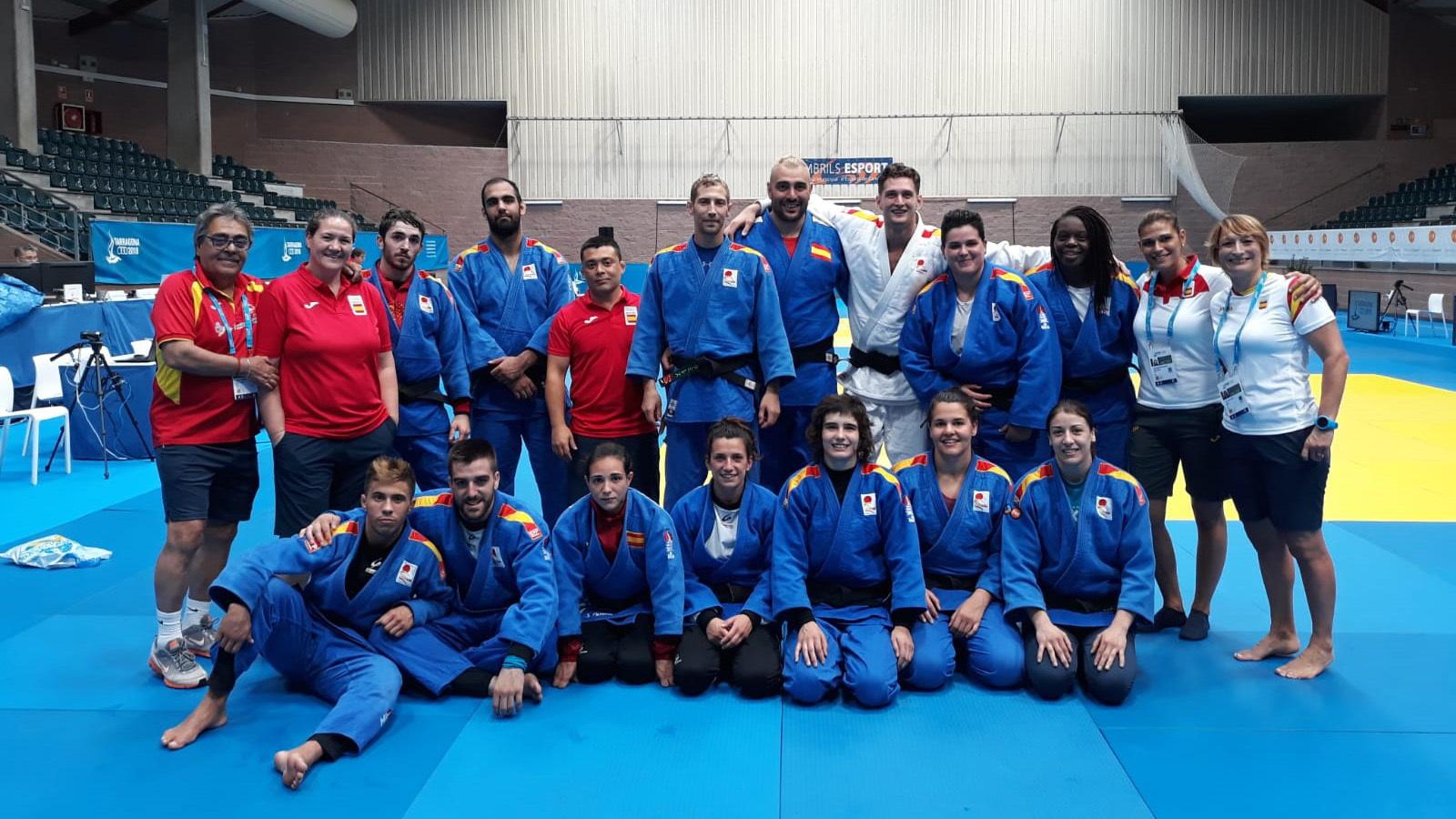 La selección española de judo en Cambrils, donde se celebrará esta...