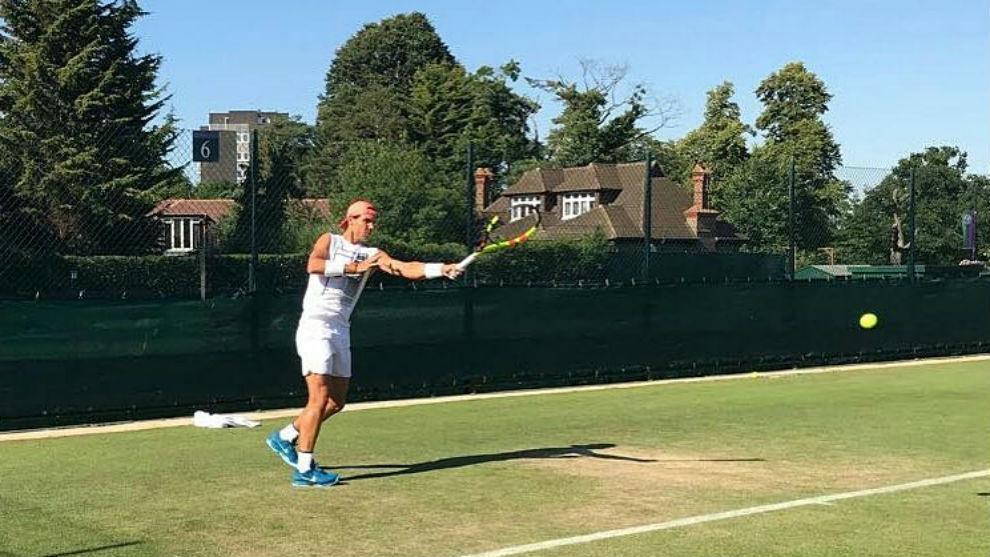 Rafa Nadal, a Wimbledon tras perder con Pouille en Hurlingham