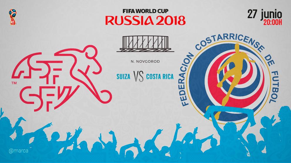 Suiza busca sellar su clasificación frente a Costa Rica - Somos Deporte