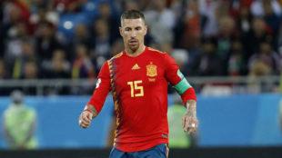 Ramos, ante Marruecos.