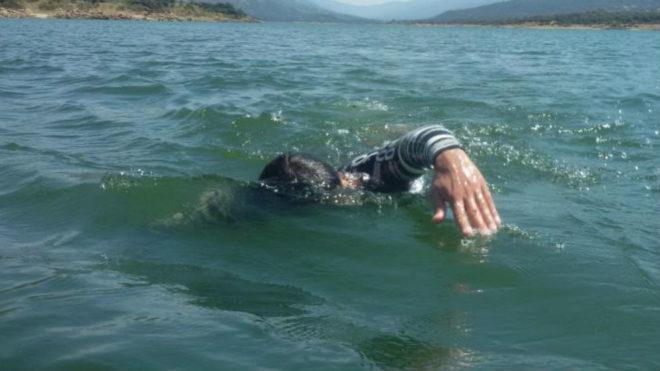 Ignacio Dean, en el agua.
