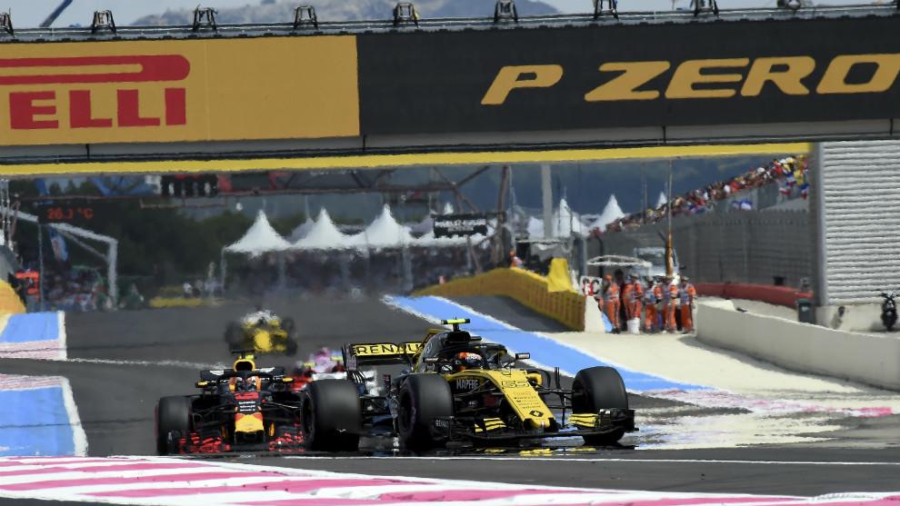 Carlos Sainz llegó a rodar tercero durante el Gran Premio de Francia
