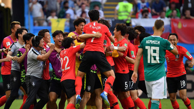 South Koreans celebrate after historic World Cup victory