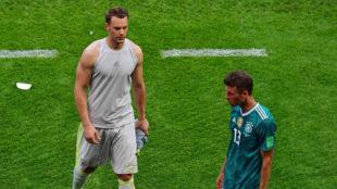 Neuer y Müller, tras la eliminación