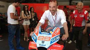 Claudio Domenicali, sobre la Ducati de Lorenzo.