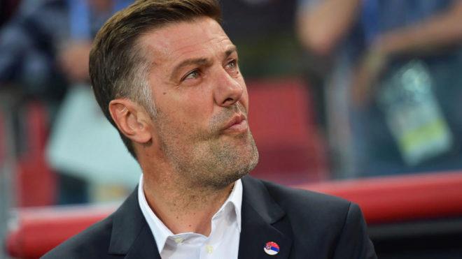Mladen Krstajic, durante el partido contra Brasil.