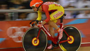 Leire Olaberria, en competición con la selección española