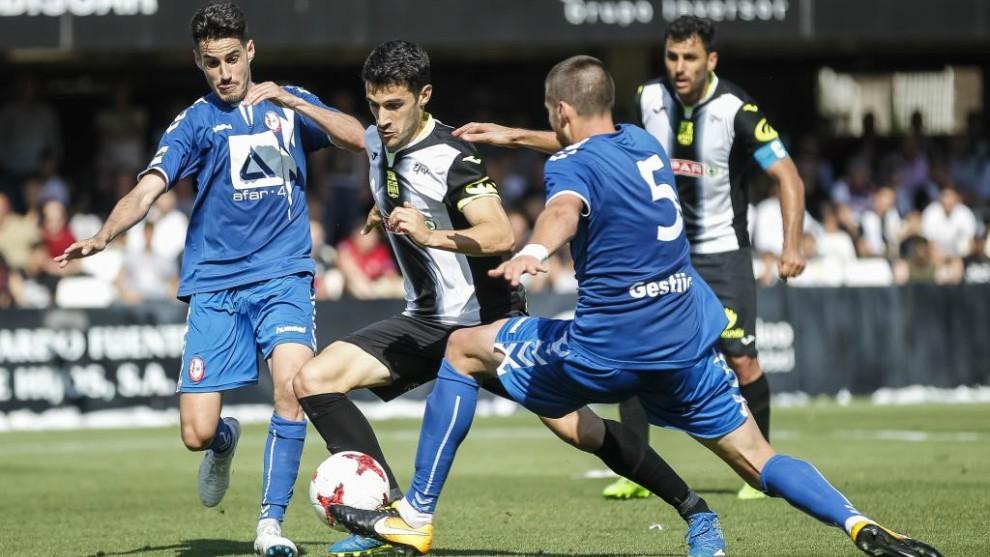 Partido de ida entre el FC Cartagena y el Rayo Majadahonda