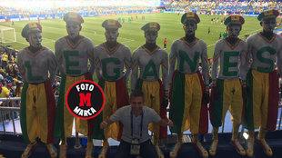 Aficionados de Senegal posa para MARCA.