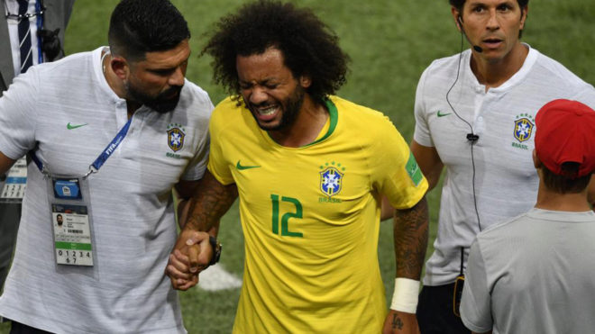 Brazil's Marcelo to start on bench against Mexico