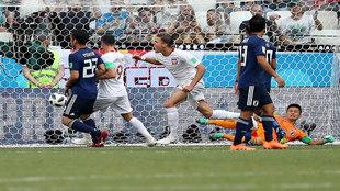 Bednareka celebra su gol a Japón