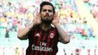 Suso celebra un gol con el Milan