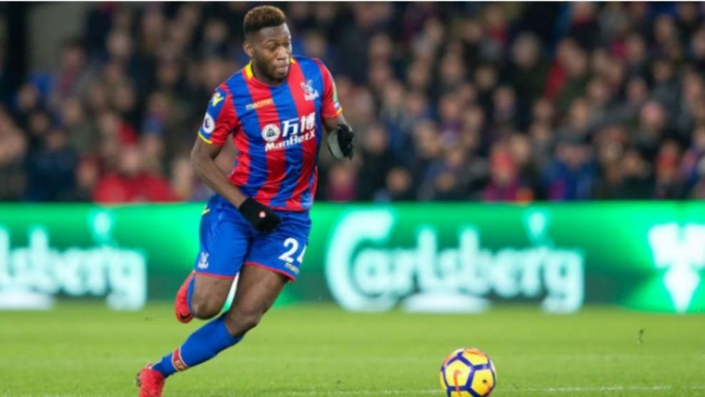 Fosu Mensah, en un partido con el Crystal Palace la temporada pasada