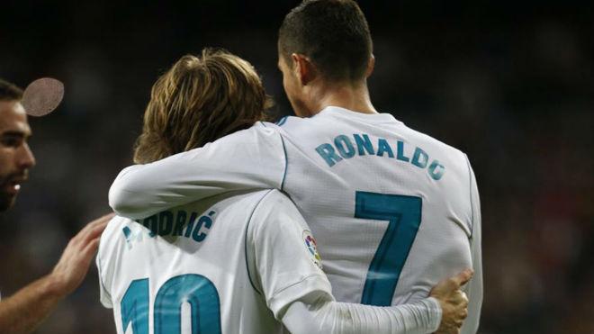 Luka Modric and Cristiano Ronaldo.