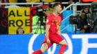 Januzaj celebra su gol a Inglaterra.
