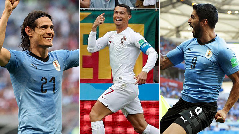 Cavani scores twice as Uruguay tops Portugal
