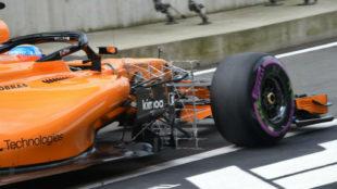 Fernando Alonso, durante los libres del GP de Austria.