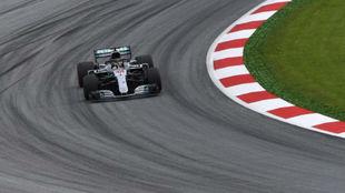 Hamilton, durante los libres 1 del GP de Austria.