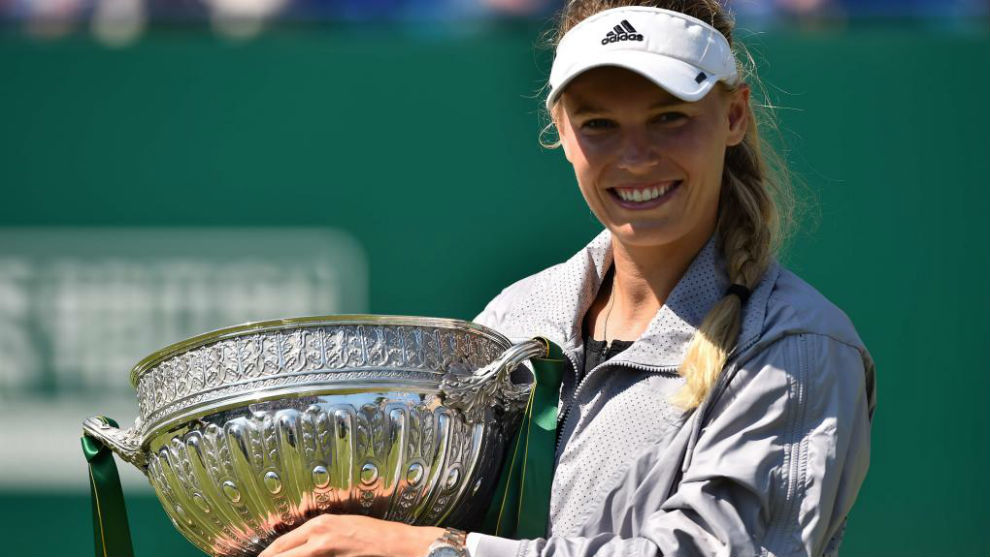 Caroline Wozniacki logró coronarse en el Torneo de Eastbourne