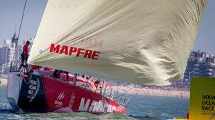 El MAPPFRE, en la última regata costera de la Volvo 2017-2018.