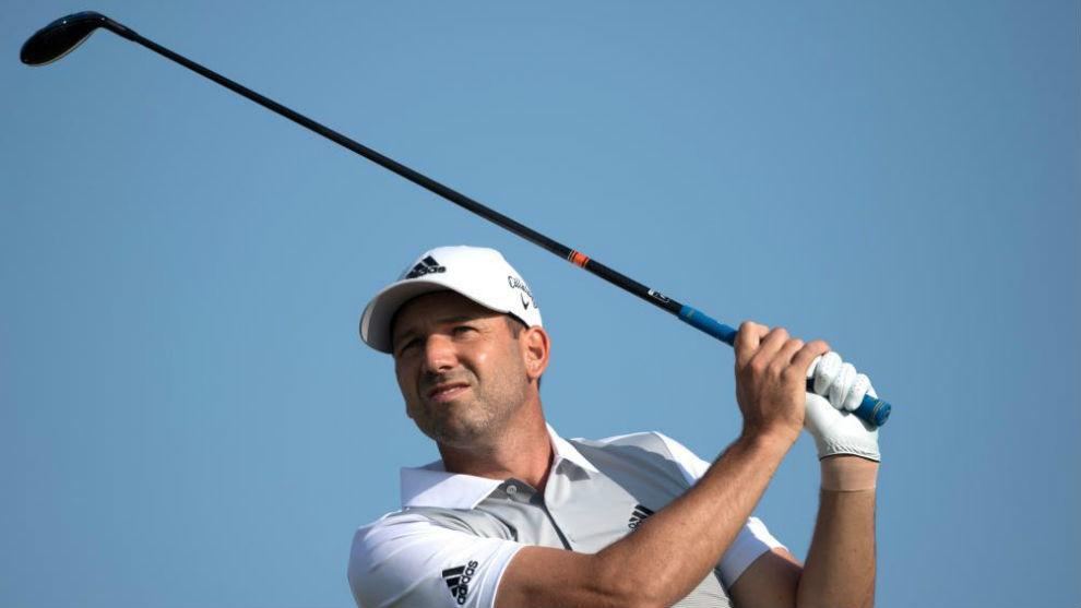 Sergio García, durante la segunda ronda del Open de Francia.