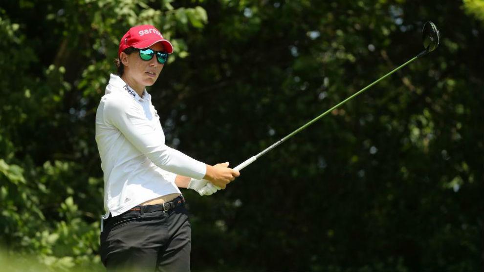Carlota Ciganda, durante la tercera jornada del PGA Championship.