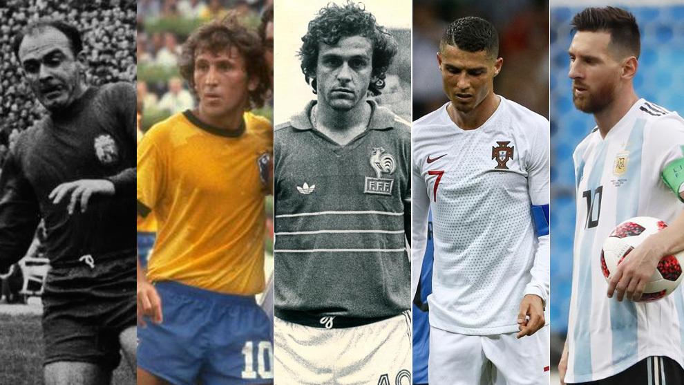 Di Stéfano, Zico, Platini, Cristiano y Messi