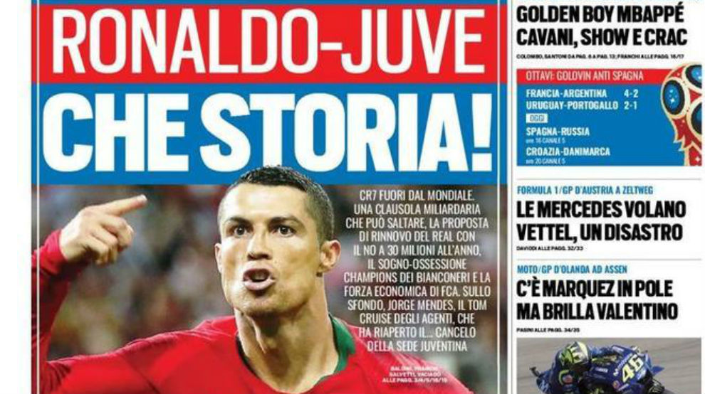 Juventus share prices rocket as club make Cristiano Ronaldo move