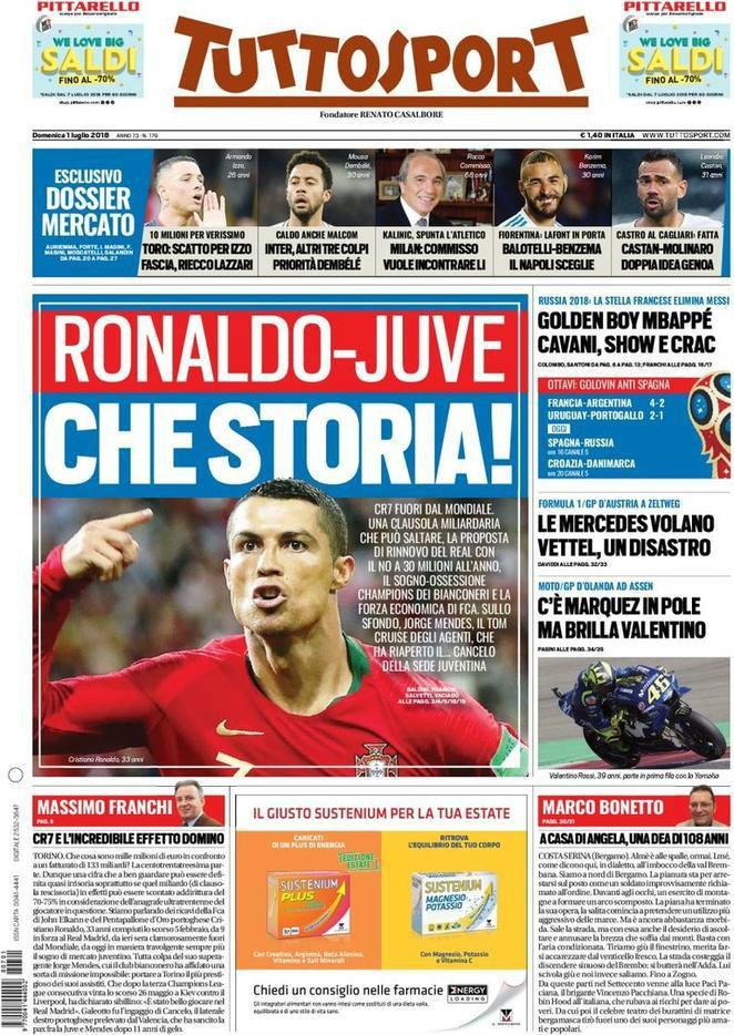 f155144feb9ee Tuttosport believe Juventus will be Cristiano Ronaldo s next destination