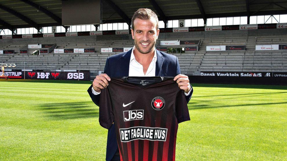 Van der Vaart, con la camiseta el Midtjylland