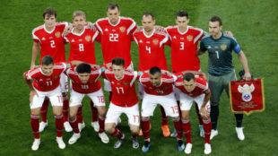 El once titular de Rusia ante Egipto, el que presumiblemente jugará...