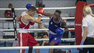 Youba (26 años) durante su pelea por el oro en Tarragona.