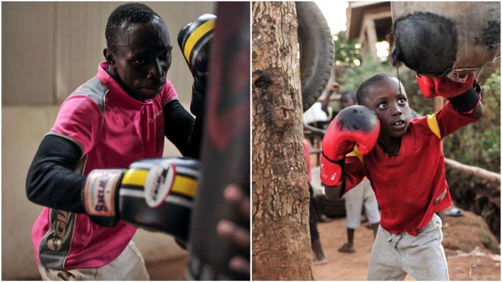 Youba envía regularmente material a Senegal para que los niños...