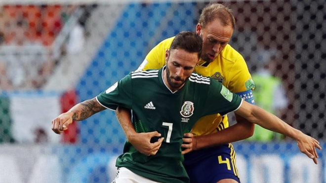 Layún, en el México-Suecia del Mundial.