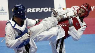 El taekwondista Dani Ros durante la final de los Juegos.