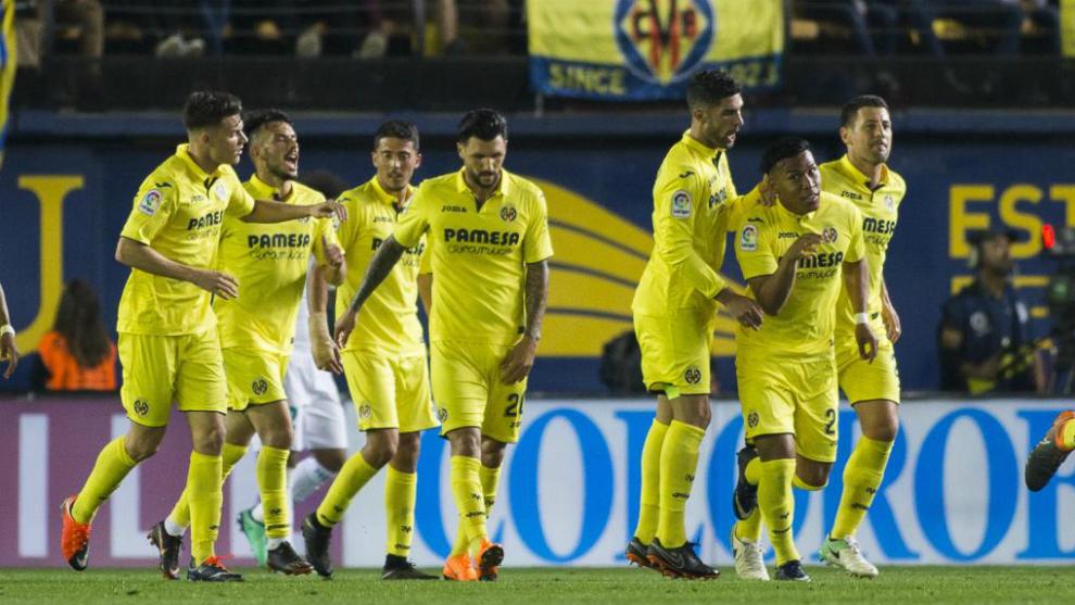 El Villarreal, durante un encuentro de la pasada temporada